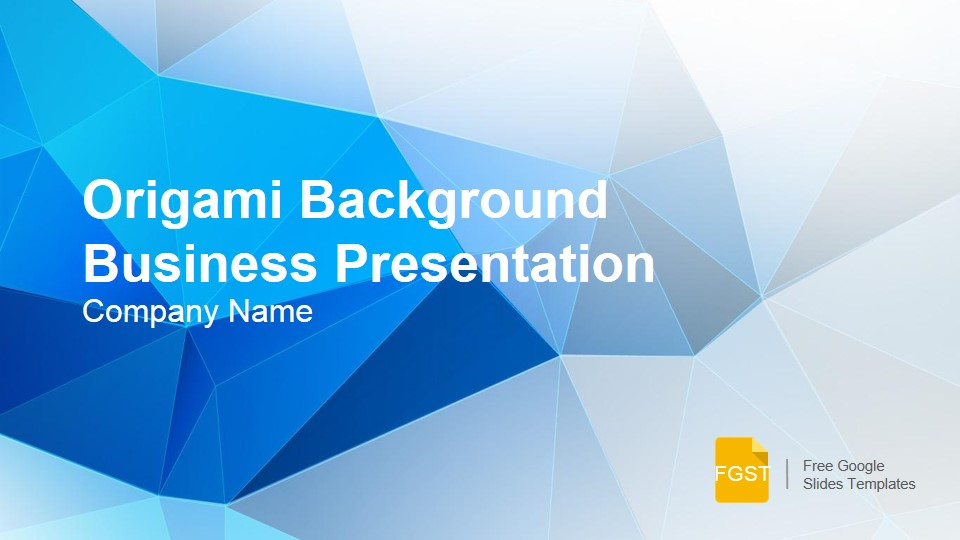 origami background presentation template - free google slides, Presentation templates