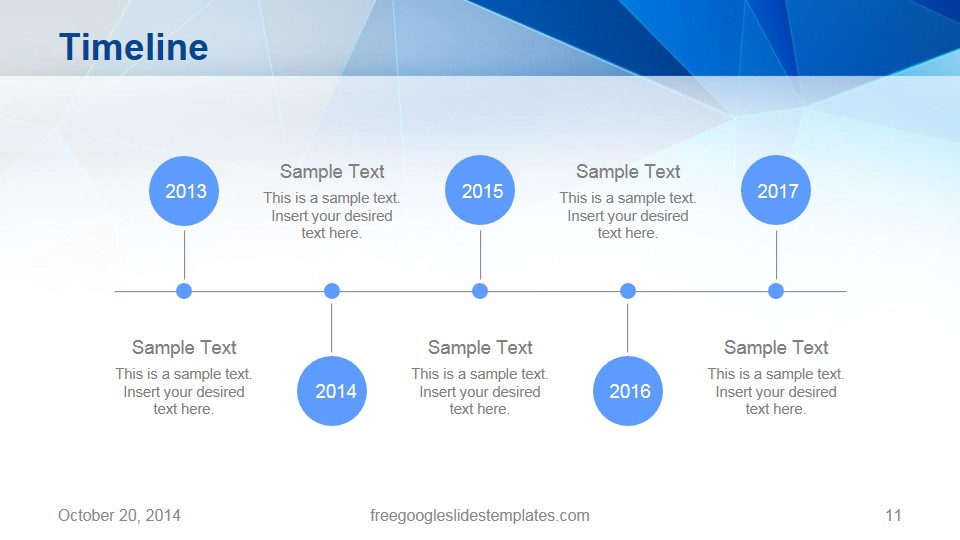 Timeline origami google slides template free google slides templates for Timeline in google slides