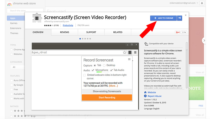 How to save a Google Slides to Video