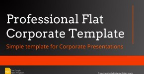 Flat Corporate Free Google Slides Templates