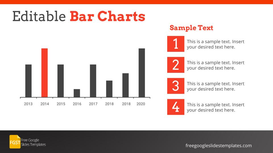 Corporate Editable Bar Charts Google Slides Template  Free Google