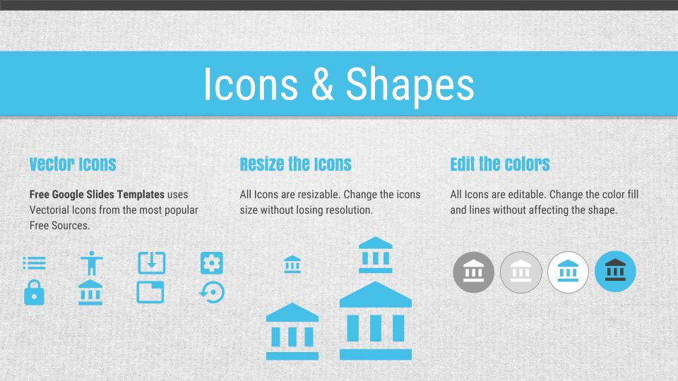awesome pitch icons & shapes google slide - free google slides, Presentation templates
