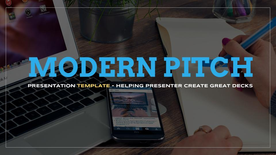 Modern Pitch Presentation Template for Google Slides