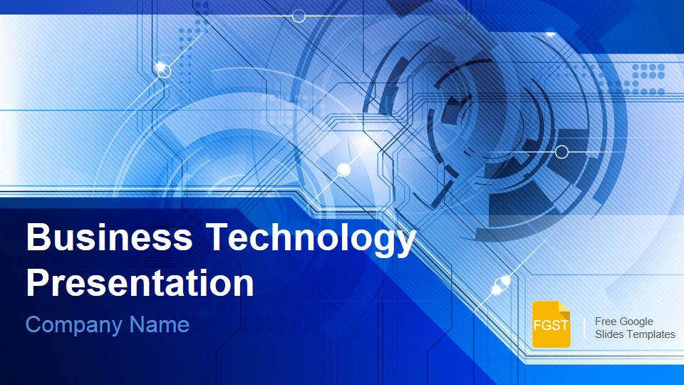 blue technology business presentation free google slides