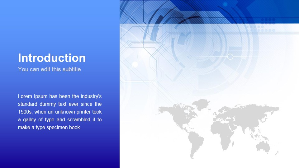introduction slide of business technology template free google