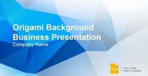Business Presentation Origami Background Google Slides Template