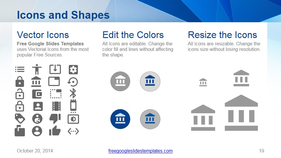 origami template icons and shapes slide free google slides templates