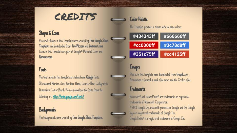 credits open book google slides template free google slides templates