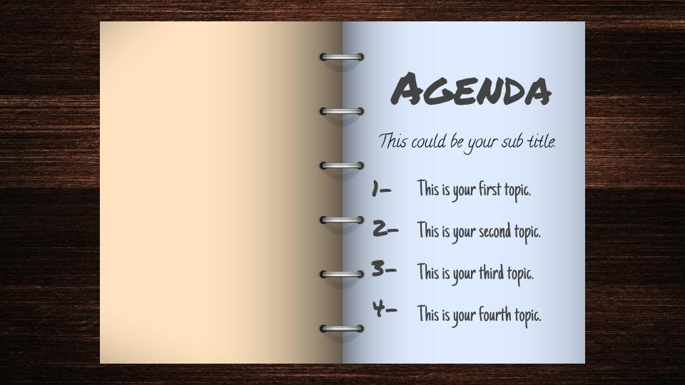 open book agenda free google slides template free google slides