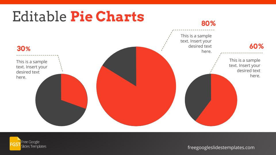 professional corporate google slide template pie charts free