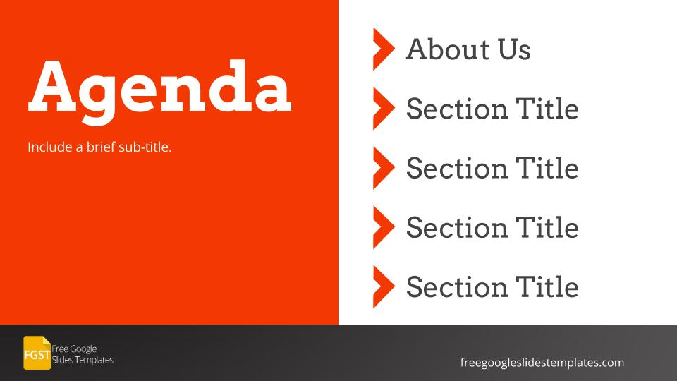 Flat Agenda Google Slides Themes Downloads