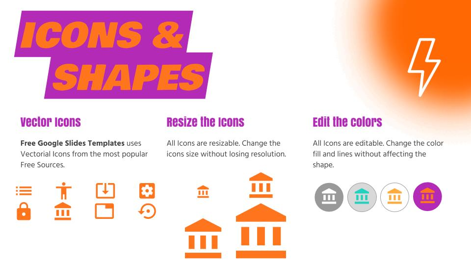 icons and shapes gradient google slides free google slides templates