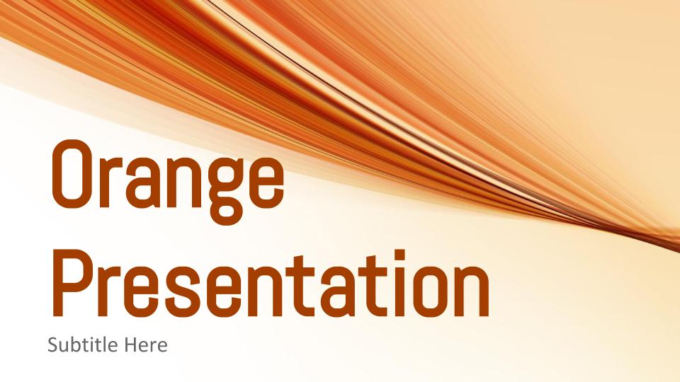 Orange Presentation Google Slides Templates