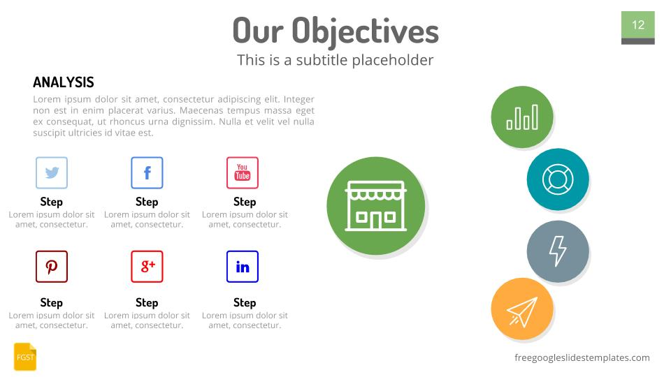 Free Google Slides Themes Our Objectives - Free Google Slides Templates